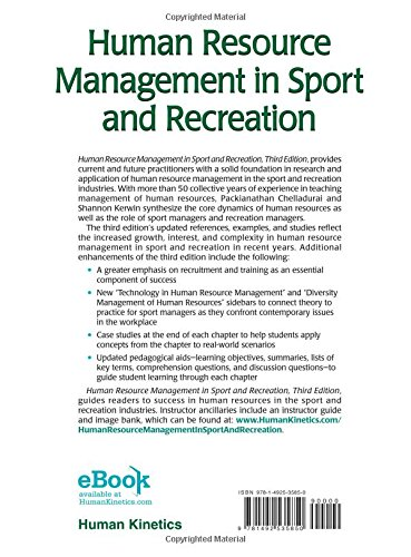 Human Resource Management in Sport and Recreation 3rd Edition