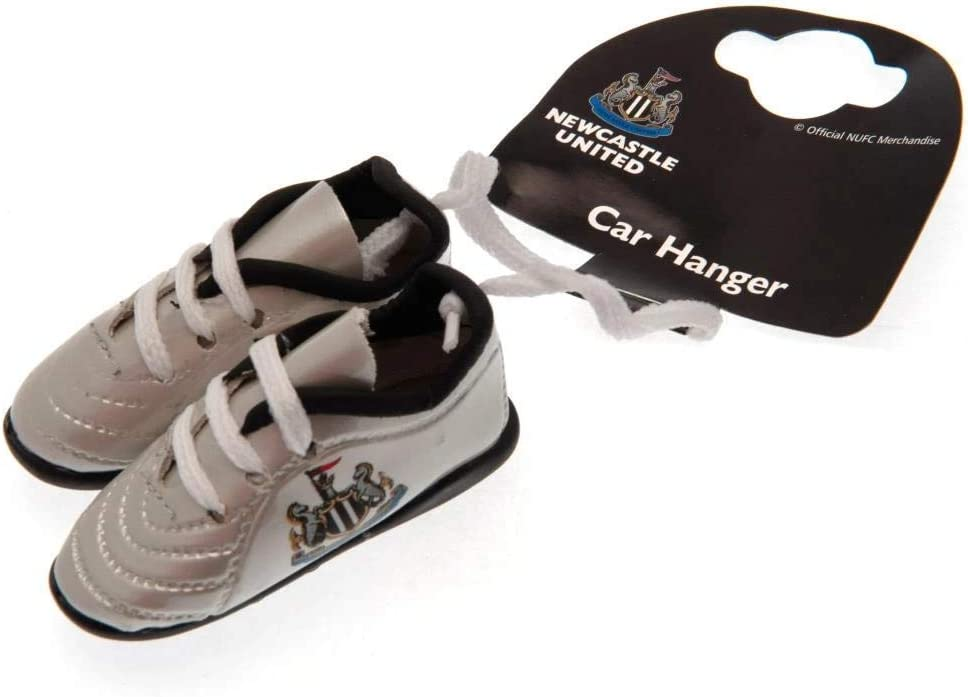 Newcastle United FC Football Club Hanging Car Window Mini silver Boots Official
