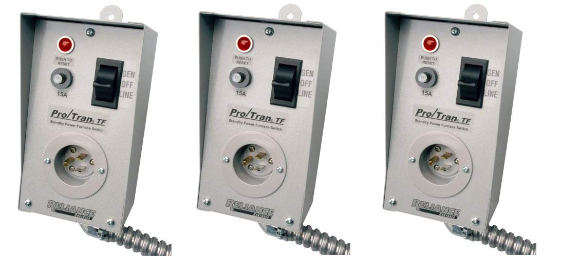 reliance controls tf151w easy tran transfer switch for generators, small, gray  transfer switch wiring for furnace #6