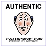 Crazy Sticker Guy Funny Warning Magnets - Practical