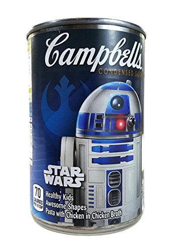 Price comparison product image Campbell's Star Wars R2D2 Label Fun Shapes Chicken & Pasta Soup, 10.5 Ounce Can