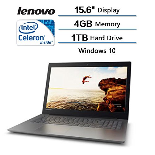 2018 Lenovo Flagship High Performance IdeaPad 320 15.6 inches Laptop (1366x768) with 3x Faster WiFi Intel Celeron Dual Core N3350 Processor 2.40GHz 1TB HDD4GB RAM Intel HD Graphics 500 Windows 10