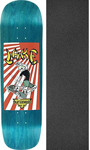 Lake Skateboards Rising Sun Blue Stain Skateboard Deck - 8.75'' x 32.5'' with Black Magic Griptape - Bundle of 2 items by Lake Skateboards