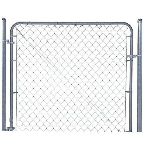 YARDGARD 6 ft. x 4 ft. Galvanized Metal Adjustable Single Walk-Through Chain Link Fence Gate ()