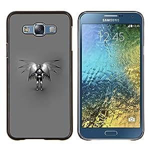 For Samsung Galaxy E7 E700 Case , Ángel Robot- Diseño Patrón Teléfono Caso Cubierta Case Bumper Duro Protección Case Cover Funda