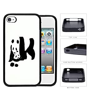 Giant Panda Bear With Child Rubber Silicone TPU Cell Phone Case Apple iPhone 4 4s
