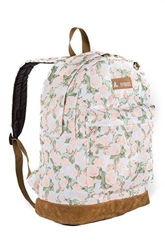Suede Bottom - Everest Suede Bottom Pattern Backpack, Vintage Floral, One Size