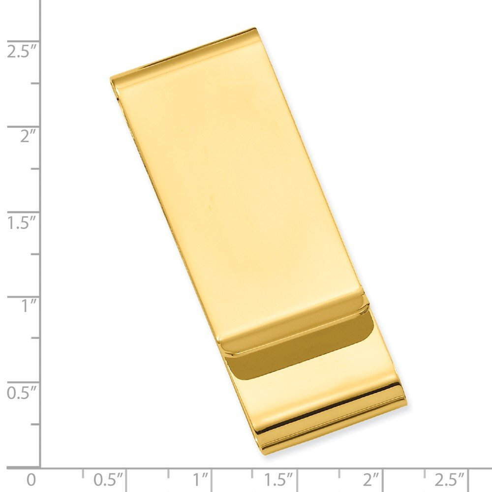 Length: 22 mm|Width: 58mm Diamond2Deal Gold-Plated Kelly Waters Stainless Steel Double Fold Money Clip