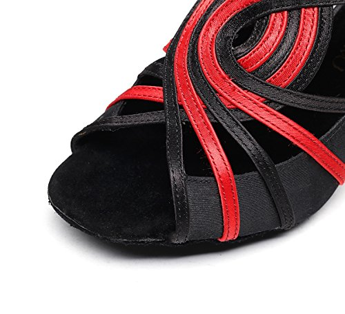 de Minitoo Black Heel Red Danse femme Salon 6cm OPTwPRq5x