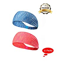 Lightweight Sports Headband, Non Slip Moisture Wicking Sweatband for Women Men Adults Girls Youth Kids for Running Cycling Hot Yoga and Athletic workouts