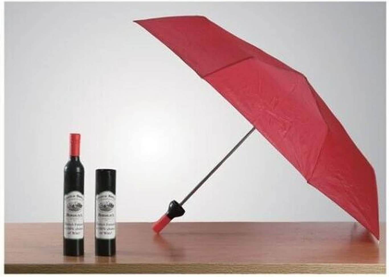 Cabernet Wine Bottle Novelty Rain Umbrella Burgundy