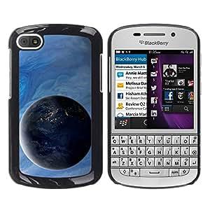 TopCaseStore / la caja del caucho duro de la cubierta de protección de la piel - Space Planet Galaxy Stars 4 - BlackBerry Q10