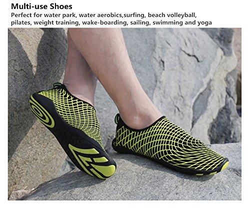 Wxdz Menn Kvinner Vann Sko Raske Tørre Barfot Hud Sko Aqua Sokker Til Strand Svømme Surfe Dykke Yoga Grønn