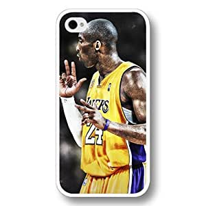 (TM)- Customized Personalized White Hard Plastic Case For Iphone 6 4.7Inch Cover Case, NBA Superstar Lakers Kobe Bryant Case For Iphone 6 4.7Inch Cover case, Only Fit Case For Iphone 6 4.7Inch Cover case