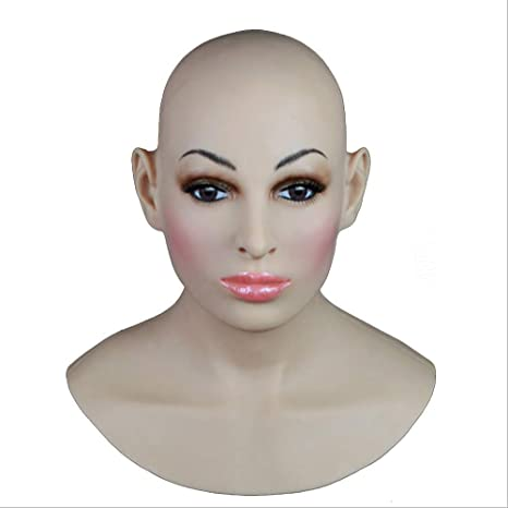 TWO Sexy Silikon Maske Frauen Pretty Halloween Weihnachtsmasken Angel Face Cosplay Male Zu Frauen Für Crossdresser Transgende