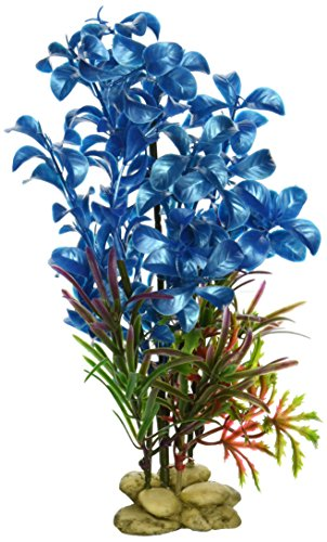 "Aquarium Plant Decoration - Hygrophilia Aquarium Plant for Fresh and Salt Water, Low Maintenance Safe and Non-Toxic Fish Tank Decor, Fish Tank Artificial Plant Decor, 8"", Blue by Aquatic Creation"