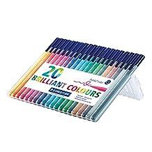 Staedtler Triplus Color Fiber Tip Pens, 323SB20P, 1
