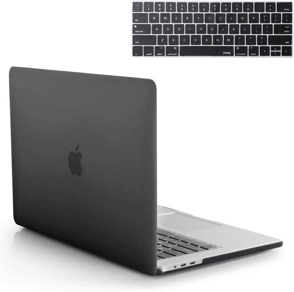 MacBook Pro 13 Inch Case 2019 2018 2017 2016 Release A2159 A1989 A1706 A1708 Hard Case Shell Cover & Keyboard Cover With/Without Touch Bar And Touch ID For Apple 13 Inch MacBook Pro Case( Matte Black)