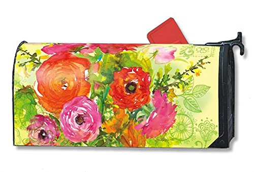 MailWraps Summer Blossoms Mailbox Cover #01076