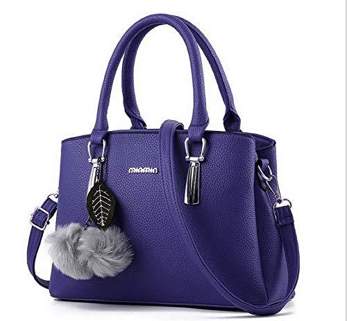 tracolla a Poli Style Blu Cotone Viola Borse AllhqFashion Scuro FBUIBC181850 Chiaro Moda Tote Donna EwnqxC0A8