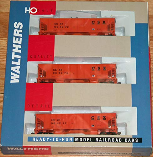 WALTHERS 932-34202 Ballast Hoppers 3-Pack CSX ()