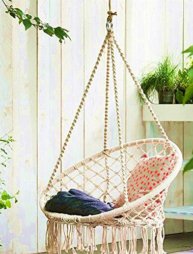 E Everking Hammock Chair Macrame Swing Hanging Cotton