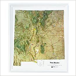 Raised Relief Map (New Mexico NCR Series, K-NM1720): Hubbard ...