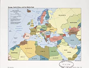 map poster europe north africa and the middle east