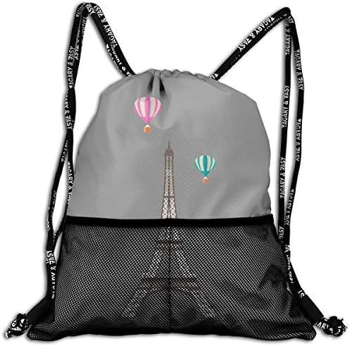 東京タワー ナップサック アウトドア ジムサック 防水仕様 バッグ 巾着袋 スポーツ 収納バッグ 軽量 バッグ 登山 自転車 通学・通勤・運動 ・旅行に最適 アウトドア 収納バッグ 男女兼用 ジムサック バック
