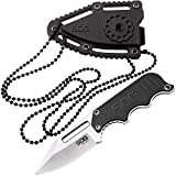 SOG Small Fixed Blade Knife - Instinct Neck Knife, EDC Knife, Boot Knife, 2.3 Inch Full Tang Blade...