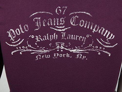 Ralph Lauren Damen Shirt Langarm Bordeaux mit Applikationen Größe S