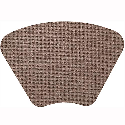 Merritt Fishnet Wedge 19 x 13 Vinyl Placemat, Taupe, Set of - Barrington Light Bath