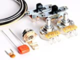 ToneShaper Guitar Wiring Kit, For Fender Mustang (Black Switches)