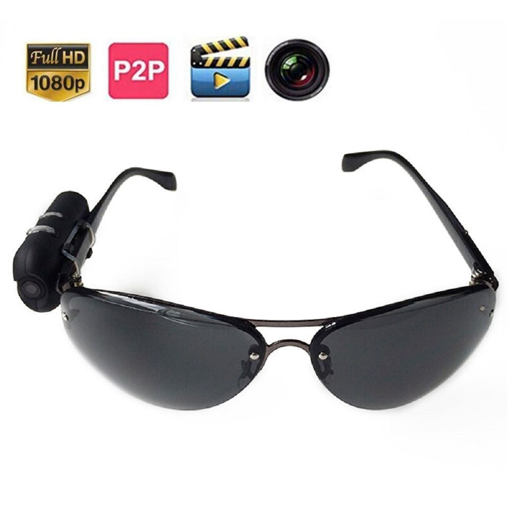 Jiusion Sunglasses HD 1920 x 1080 Surveillance Hidden Camera with Photographing, Video Recording Function