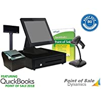 All in One Retail Point of Sale Bundle Featuring QuickBooks POS V18 Professional - Gold
