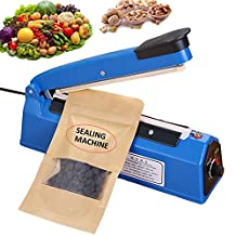"2yDream FS200 8"" 200mm Manual heat Sealing machine for plastic bags or Cellophane Bags, food impulse sealer with Extra Heating Element and Teflon Sheet"