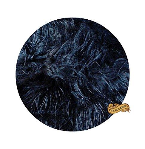 Amazon.com: Classic Round Sheepskin Faux Fur Area Rug