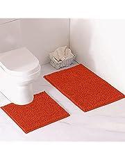 LuxUrux Bathroom Rug Mat -Extra-Soft Plush Bath Shower Bathroom Rug,1'' Chenille Microfiber Material, Thickening Shaggy Tub Mat Carpet, Super Absorbent. Machine Wash & Dry