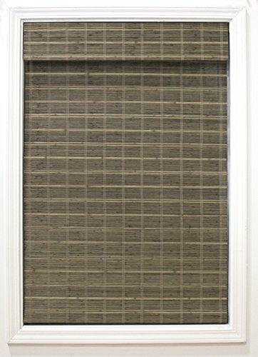 RADIANCE Cordless Driftwood Bayshore Matchstick Bamboo 34″ X 64″ Window Blinds, 34″ W x 64″ L