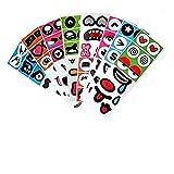24Sheets Fun Emoji Face Stickers,Sticker Decals Vinyls for Mug,Laptop,Kids,Teens,Cars,Luggage