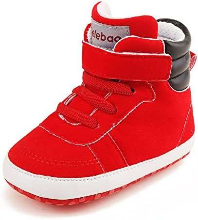 DELEBAO Chaussure B/éb/é Chaussure PU Cuir Bebe Fille Chausson Enfant Premier Pas Semelle Souple