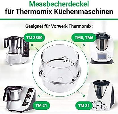 Vorwerk Thermomix measuring cup for the TM6 TM5 TM 31 TM 21 TM 3300 food processor spare parts 100ml spare parts accessories: Amazon.es: Hogar