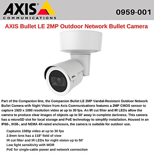 AXIS Companion 2 Megapixel Network Camera - Color, (Axis System)