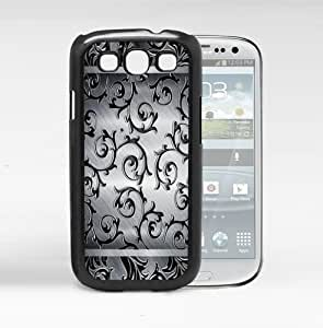 Great Black Vines Black And White Background Hard Snap On cell Phone Case Cover Samsung Galaxy S3 I9300