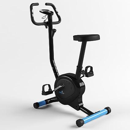 Heimtrainer Ergometer Fitnessgerät Fitnessbike Handpuls-Sensoren Display schwarz