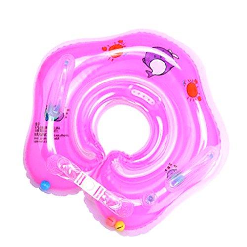 MagiDeal Anillo Inflable de Seguridad de Flotador de Delfín de Cuello Accesorios de Baño de Bebé - rosado