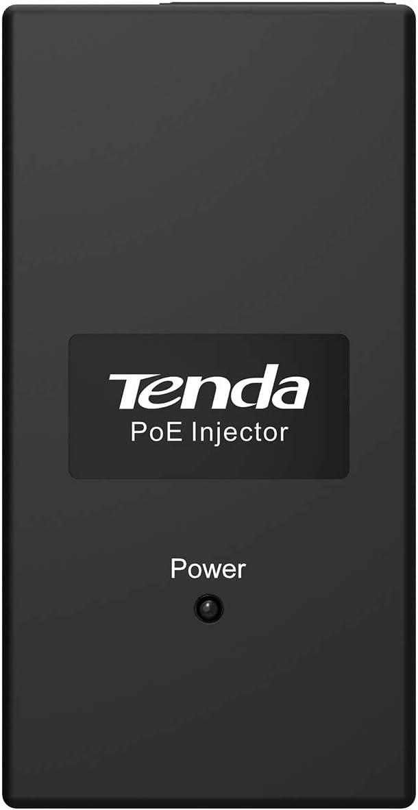 Tenda POE15F Adaptador e inyector de PoE Ethernet rápido 48 V - Adaptador/inyector de PoE (Ethernet rápido, 10,100 Mbit/s, IEEE 802.3,IEEE 802.3af,IEEE 802.3u, 100 m, Negro, Poder)