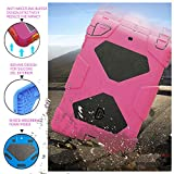 iPad Mini Case, iPad Mini 2 Case, iPad Mini 3 Case, ACEGUARDER Heavy Duty Three Layer Armor Defender Protective Kids Case Cover with Kickstand for iPad Mini 1/2/3