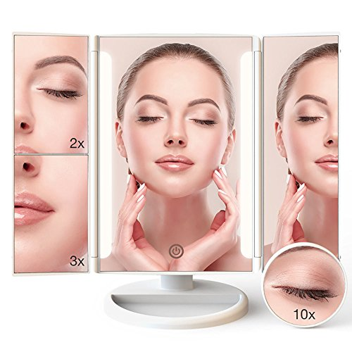 LED Lighted Makeup Mirror 24pcs Lights Makeup Vanity with 1