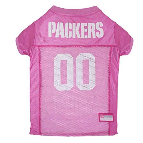 NFL GBP-4019-MD Green Bay Packers Pet Pink Jersey, Medium